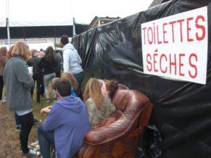 Une innovation de cette année : Un salon VIP à Chiottesland