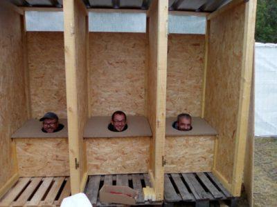 Les nouvelles cabines en pleine installation par la Chiotteam