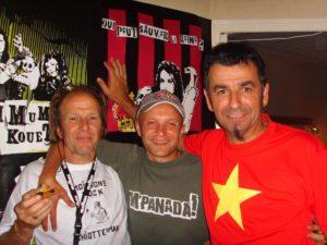 La gloire du Chiotteman avec Guizmo (Tryo) et Laurent le programmateur des Moissons